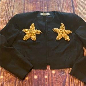 Carlisle size 10 cropped linen jacket